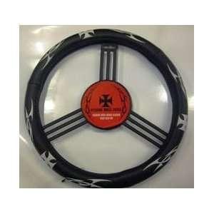 Maltese Cross Genuine Leather Steering Wheel Cover Automotive
