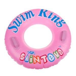 90cm Inflatable Swim Ring With Two Handles   Pink Toys