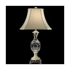 Tiffany GT80309 Marble/Crystal Table Lamp, Chrome and Fabric Shade