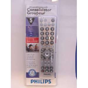PHILIPS UNIVERSAL 5 DEVICES LEARNING REMOTE: Electronics