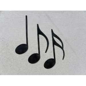 Music Notes 3 Piece Set Metal Wall Art Home Decor