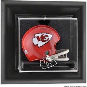 Kansas City Chiefs Framed Wall Mounted Logo Mini Helmet
