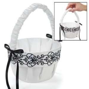 Black & White Wedding Basket   Party Decorations & Pails & Baskets