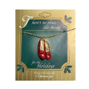 18 Chain Collectible Wizard of Oz Ruby Slippers Necklace