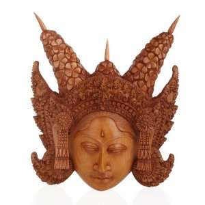 Legong Keraton Mask~Wood Wall Decor~Hand Carving Art Home & Kitchen