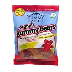 YummyEarth Organic Gummy Bears, 5 Ounce Bags (Pack of 12)