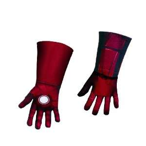 Avengers Iron Man Deluxe Gloves, Red/Gold, One Size Toys