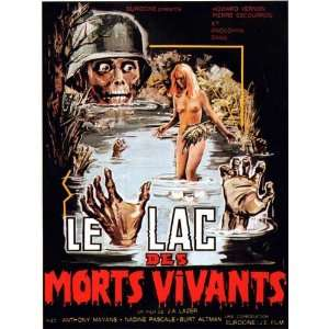 Zombie Lake Movie Poster (11 x 17 Inches   28cm x 44cm) (1981) French