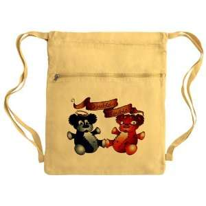 Sack Pack Yellow Double Trouble Bears Angel and Devil