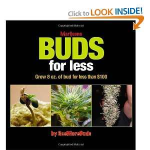 Marijuana Buds for Less: Grow 8 oz. of Bud for Less Than $