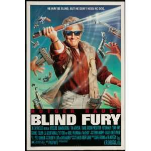 Blind Fury 1990 Original U.S. One Sheet Poster Never