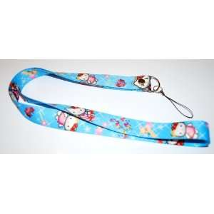 Hello Kitty Lanyard Key Chain Holder Blue Star Automotive