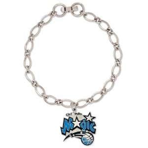 NBA Orlando Magic Ladies Silver Tone Charm Bracelet