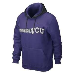 TCU Horned Frogs Bump and Run Hooded sweatshirt (Purple)