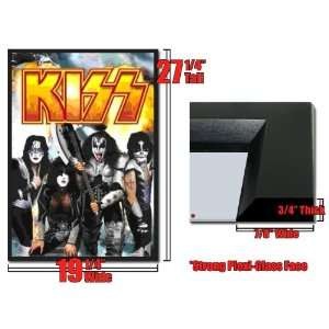 Framed Kiss Rock Band 3D Lenticular Poster Explosion
