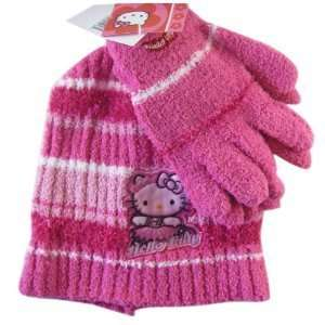 Sanrio Fuschia Hula Girl Hello Kitty Winter Set (2pc)   Hello Kitty