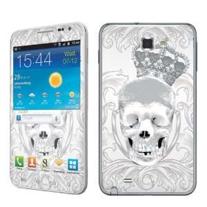 Galaxy Note i717 AT&T Vinyl Protection Decal Skin White Skull Crown