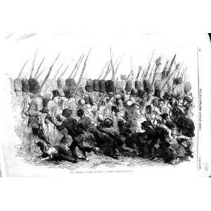 1856 SCENE RETURN GUARDS SOLDIERS CHILDREN WAR ARMY