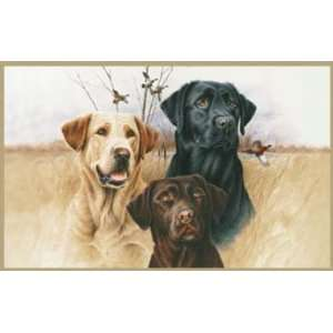 Custom Printed Rugs 37x52 inch Great Hunting Dogs Rug Home & Kitchen