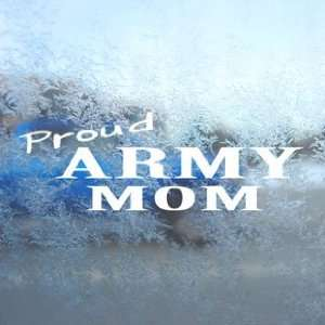 US Army MOM White Decal Military Car Window Laptop White