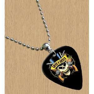 Guns n Roses (Hat) Premium Guitar Pick Necklace: Musical