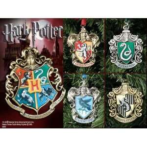 Harry Potter Hogwarts Christmas Ornaments   Set of Five