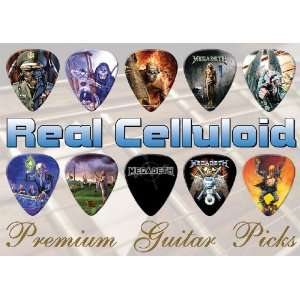 Megadeth Premium Guitar Picks X 10 (A4) Musical