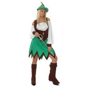 Pams Tv Star Fancy Dress Costumes  Robin Hood Lady Fancy