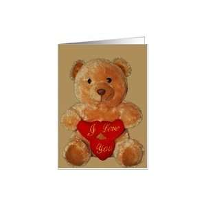 I Love You Bear Valentines Day Card Health & Personal