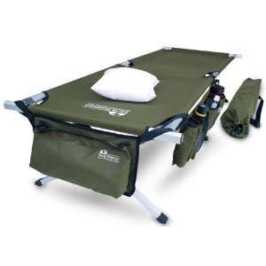 Earth Products Jamboree Military Style Folding Cot with Free Side