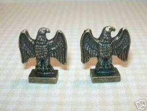 Kendall Antique Brass Eagle Bookends DOLLHOUSE Minis