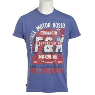 Franklin & Marshall T Shirt, Blue Marlin Marshall Motor Oil F&M T