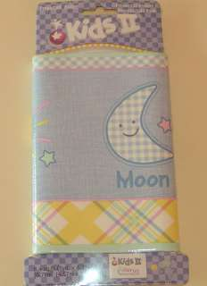 VERY CUTE PASTEL WALLPAPER BORDER WITH MOON, SUN, & STARS IN BLUE