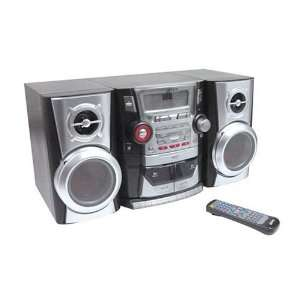 Stereo System with 3 Disc CD Player, AM/FM Tuner, and Dual Cassette