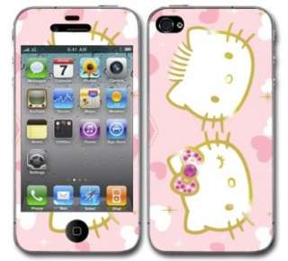 Hello Kitty Skull Vinyl Skin Decal Cover Iphone 4 Sticker Body Guard
