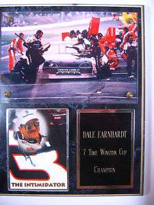 Dale Earnhardt 7 Time Winston Cup Champion Plaque
