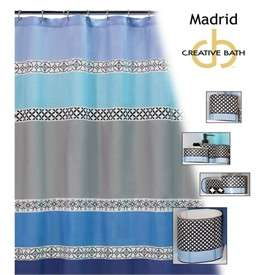 blue and gray shower curtain on popscreen