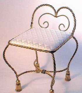 stool this luxurious padded chair has a small back perfect for vanity