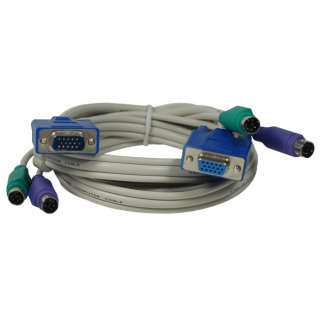 New PS2 KVM Cable Male to Female for keyboard 5 feet