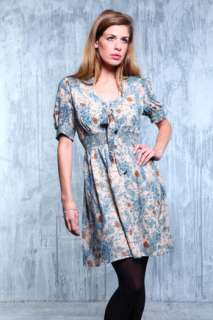 Darling eva dress, vintage style blue floral prom dress, uk