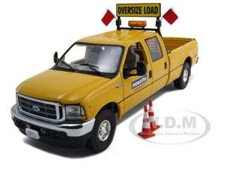 Ford F 250 Crew Cab Pilot Truck Komatsu Diecast Car Model 1/34 by