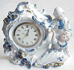 Vintage Linden China Colonial Bedroom Alarm Clock.