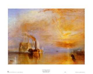 El último viaje de El Temeraire Pósters por William Turner en