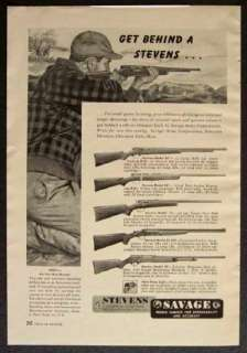 1948 STEVENS Savage Models 87 84 15 59 22 410 .22 & 410 ga. Shotgun