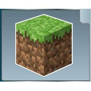 DIRT BLOCK from Minecraft vinyl decal sticker 4 car truck