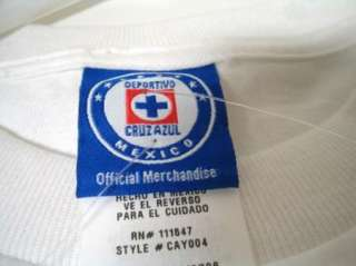 NEW Mexico Primera Liga CRUZ AZUL Logo T shirt Boys M