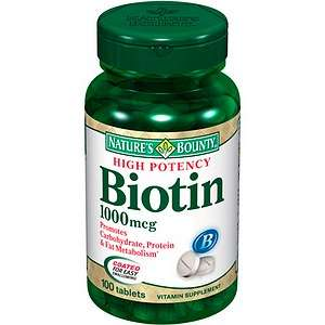 Buy Natures Bounty Biotin, 1000mcg Tablets & More  drugstore