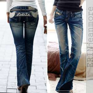 EJM)premium series Bootcut jeans angel wings no 1065