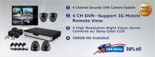 The kit DVR DK048A1 500GB includes a 4 channel standalone DVR with