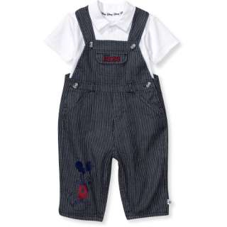 Disney   Newborn Boys Mickey Mouse Overalls and Polo